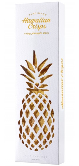 Fine Gift | Hawaiian Pineapple Crisps Cut-Out Paper Box